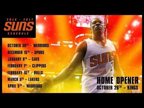 Phoenix Suns Schedule 2016-17 BREAKDOWN