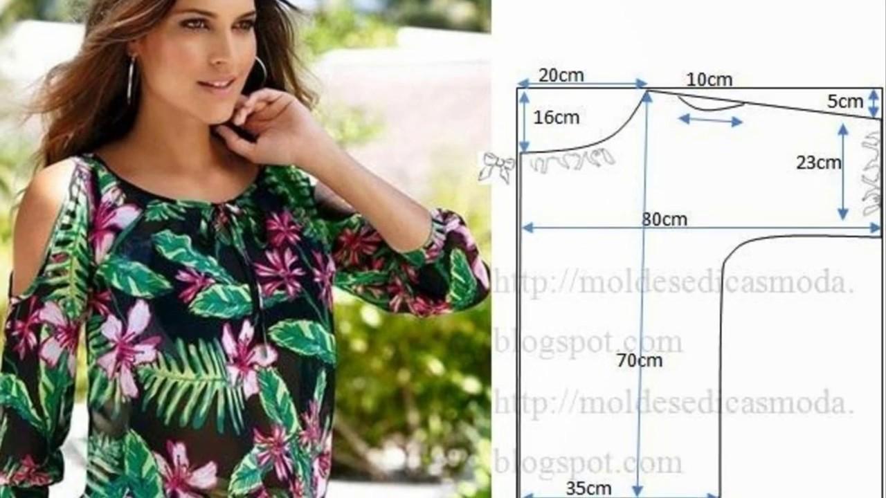 8ac92afc67c Выкройки блузок для начинающих - YouTube