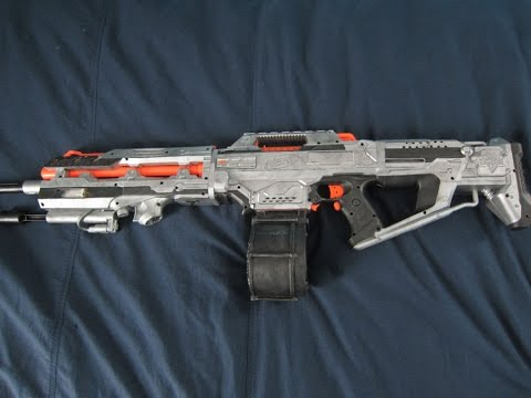 [MOD] Halo Saw Nerf Replica with LEDs - YouTube