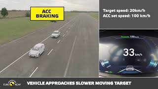 Euro NCAP Automated Testing   Hyundai Smart Cruise Control with Lane Following Assist