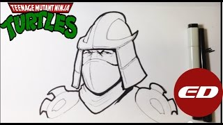 How to Draw Shredder from Teenage Mutant Ninja Turtles - Easy Things to Draw