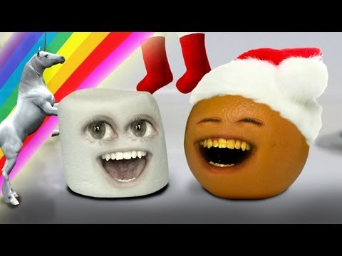 Annoying Orange  Marshmallows Christmas Sock 12 Days Of Christmas