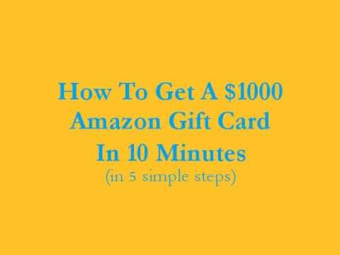 How To Get A $1000 Amazon Gift Card In 10 Minutes (US - September ...