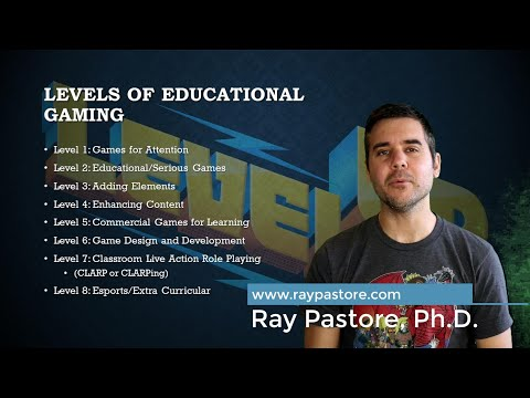 Levels of Educational Gaming - How to implement games and gamification into education