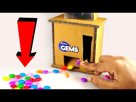 Thumbnail: How to make a GEMS CANDY Dispenser Machine from CARDBOARD | DIY at HOME