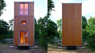 Shipping Container-inspired Homebox Is A Tiny, Movable 3-story Vertical Home