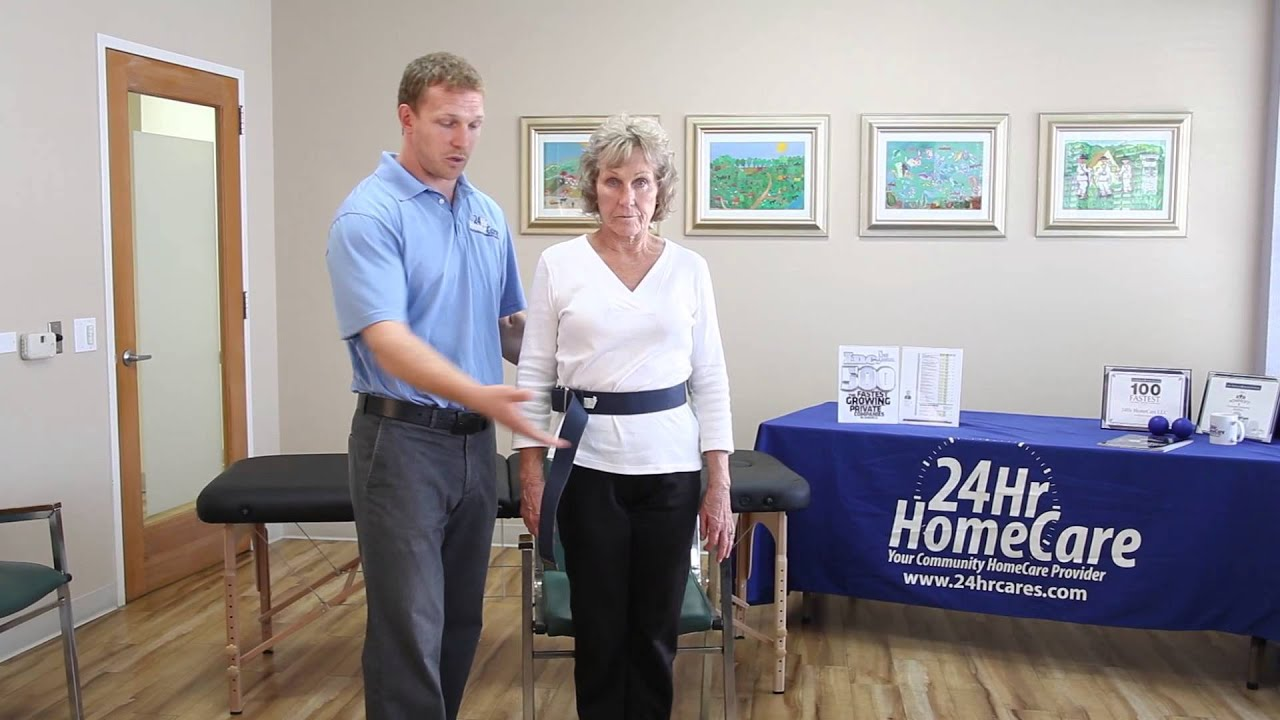 Who needs physical therapy - Physical Therapy Exercises For Seniors How To Properly Use A Gait Belt 24hr Homecare Youtube