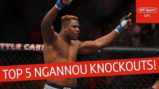 Francis Ngannou's top five knockouts! The UFC's most powerful man