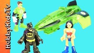 Imaginext Batman + Green Lantern Jet! WonderWoman Invisible Jet Adventure HobbyKidsTV