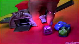 Cars 2 Micro Drifters Take-Off Launcher Playset Using Disney Pixar Toys  Review by Disneycollector