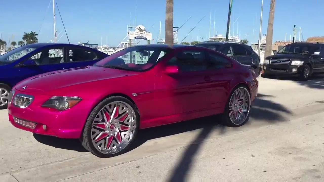 Kandy Pink Bmw 650 On 26s Forgiato Youtube