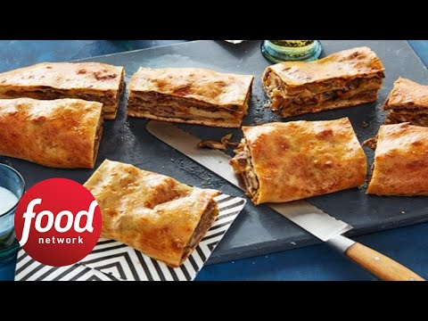 Jam Packed Philly Cheesesteak Garbage Bread Food Network Youtube