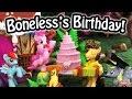 My Little Pony Boneless' Birthday at Pinkie Pie's Sweet Shoppe Sugarcube Corner MLP Toy Parody Spoof