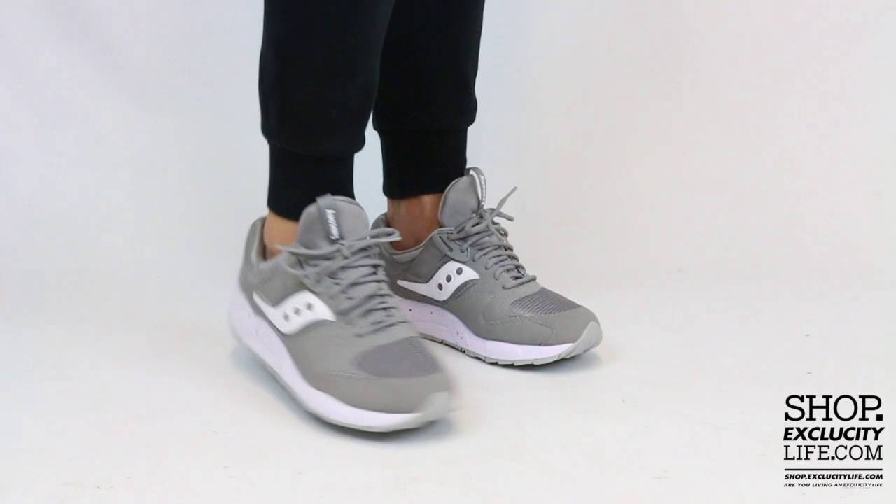 d73d6e7b Saucony Grid 9000 Grey - White On feet Video at Exclucity - YouTube