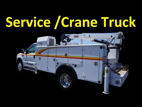 2000 F 550 7 3 DIESEL 27K MI ~ MECHANICS CRANE IMT TRUCK FOR SALE