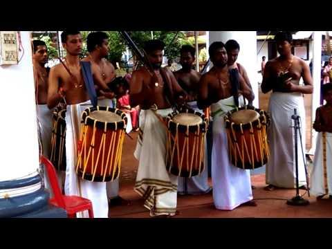 Panchari Melam by Thrikkakara Vadyakalaapeedam Students during Onam Utsavam