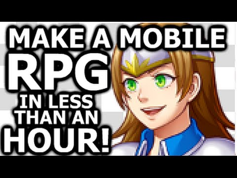 Creating an RPG for Mobile from scratch in under an hour using RPG Maker MV.