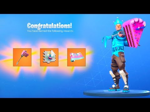 *NEW* FORTNITE BIRTHDAY EVENT FREE REWARDS RIGHT! Birthday Live Event! (Fortnite Battle Royale)