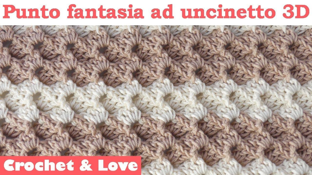 Tutorial Punto Fantasia Ad Uncinetto 3d Copertina Neonato Sub