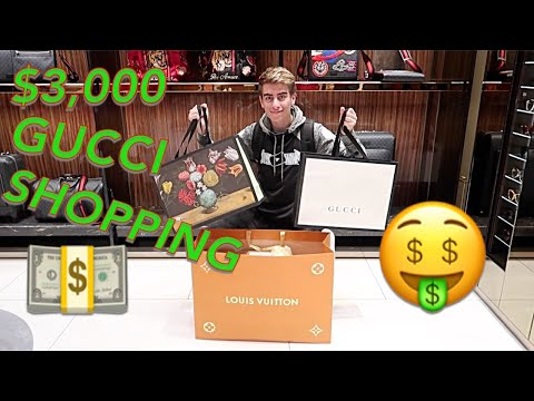 I SPENT $3000 HYPEBEAST SHOPPING AT GUCCI AND LOUIS VUITTON!!