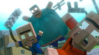 Top 6 Funny Minecraft Animations by MrFudgeMonkeyz (Herobrine & More!)