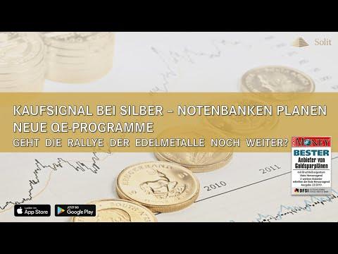 Kaufsignal bei Silber – Notenbanken planen neue QE-Programme – Webinar mit M. Blaschzok (23.07.2019)