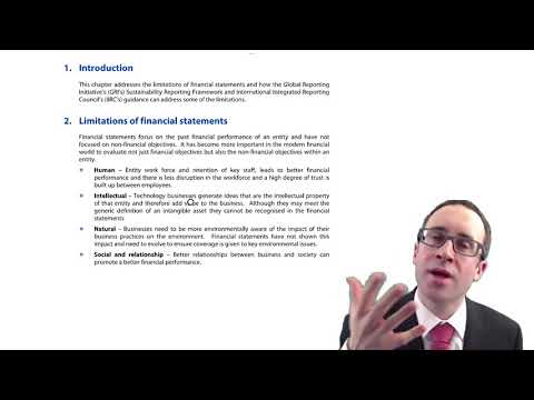 CIMA F3 Sustainability and Integrated Reporting - Introduction