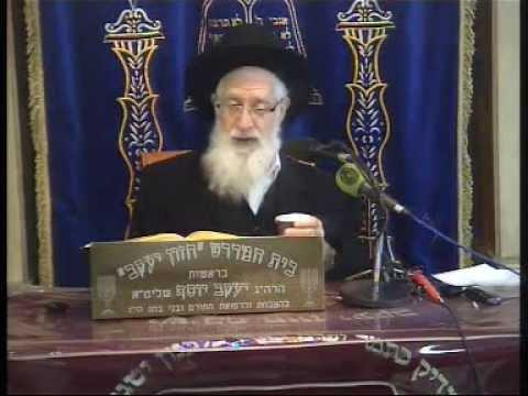 הרה''ג יעקב יוסף זצוק''ל Pesach  ליל הסדר התשע''ב