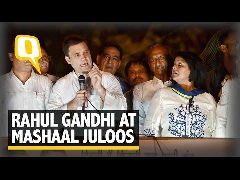 The Quint: Rahul Gandhi Corners Modi and Kejriwal at Mashaal Juloos