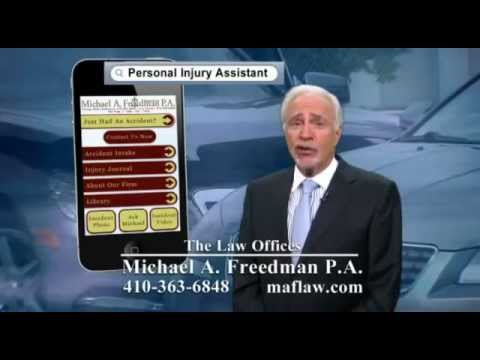 Personal Injury Assistant App  Baltimore Auto Accident Lawyer  YouTube
