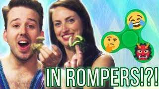 WE TRIED FIDGET SPINNERS IN ROMPERS
