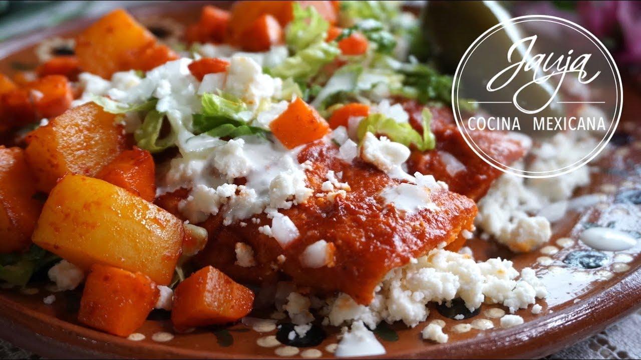Enchiladas Rojas con Papa y Zanahoria  YouTube