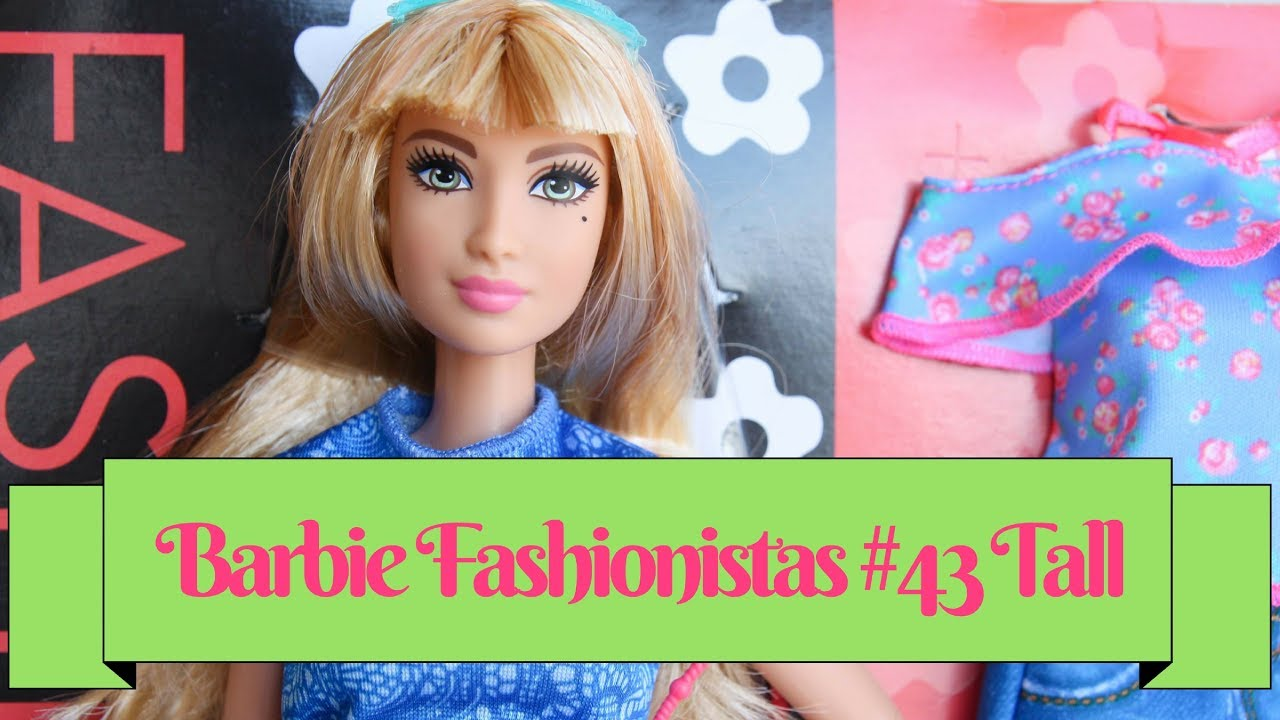 50% price superior quality wholesale price Barbie Fashionistas # 43 Lacey Blue Tall Doll & Fashions Review & Unboxing