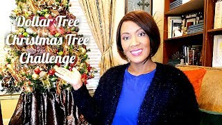 🎄Dollar Tree Christmas Tree Challenge🎄Decorate With Me🎄