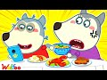 Wolfoo, Focus on Your Meal - Yes Yes, It's Time to Eat - Learn Good Habits for Kids   Wolfoo Channel