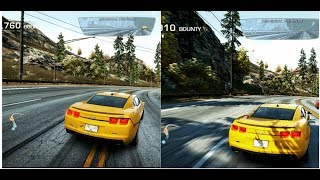 Need For Speed:Hot Pursuit 2010 Low Vs HIgh Graphics comparison