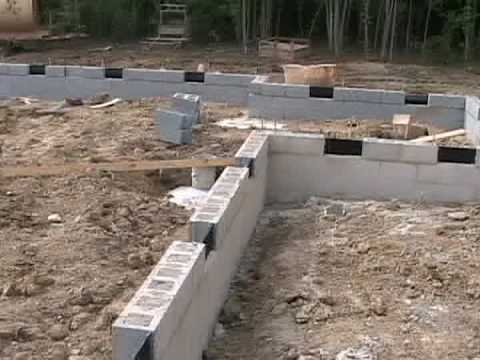 New house foundation built youtube for Home foundation