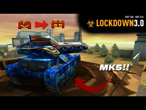 Tanki Online - Road to 17 Days making EXP getting MK5!! | Lockdown 3.0