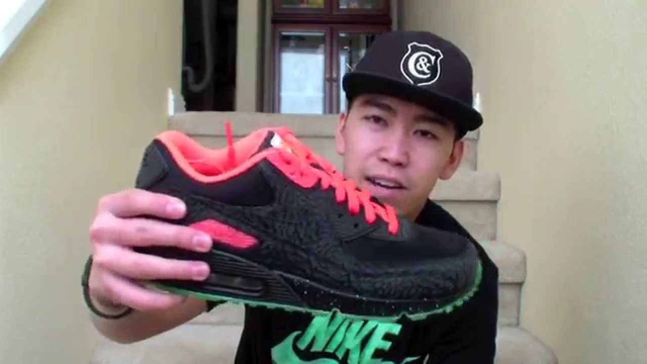 free shipping ffecb 1438d Review  4   3LAB90 x Yeezy 2   Nike Air Max 90 iD Collab   Niclacoste    2014 - YouTube