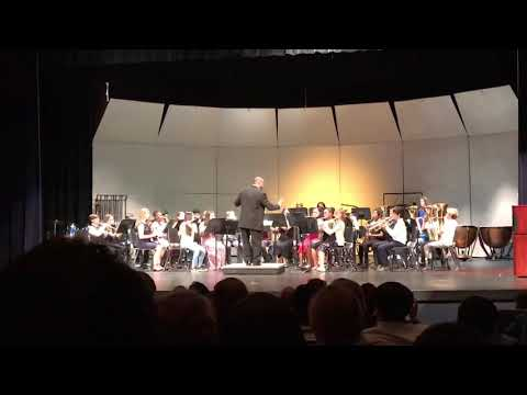 Louise R Johnson Middle School Beginning Band Spring Concert 5/21/18