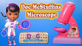 Unboxing the Doc McStuffins Microscope Set with Lambie and Hallie