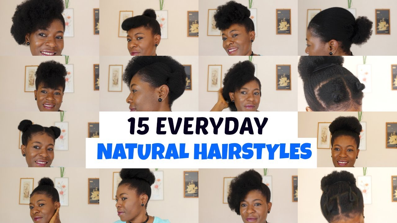 15 Easy Hairstyles For Black Women I Short Medium Hair Neknatural Youtube