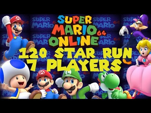 Super Mario 64 Online 120 Star 7 Players In 49 03 Wr Youtube