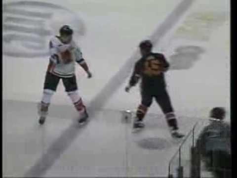 CHL Missouri-Rapid City hockey fight - Colt King vs Justin Sawyer 11/16/13
