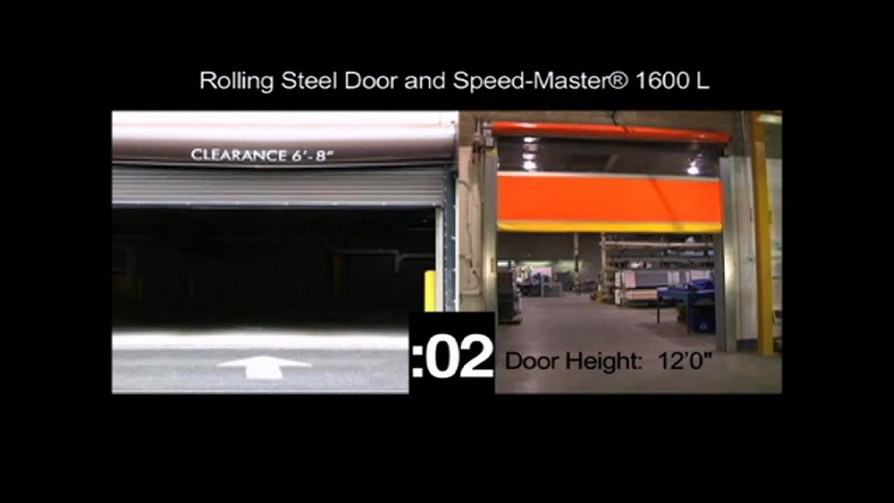 Rolling steel door on building - Hormann High Speed Roll Up Doors Speed Master 1600 L Versus Rolling Steel Door