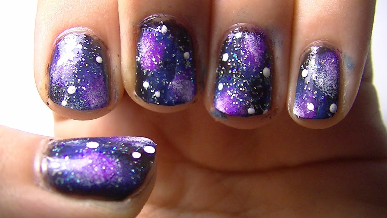 Galaxy Nail Art Tutorial - YouTube