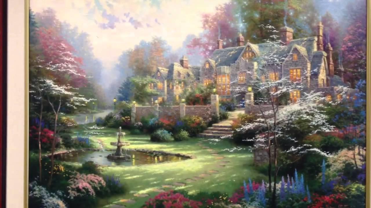 Thomas Kinkade Painting Gardens Beyond Spring Gate Thomas