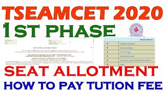how to pay ts eamcet tution fee|ts eamcet seat allotment|ts eamcet 2020 seat allotment|#tseamcet2020