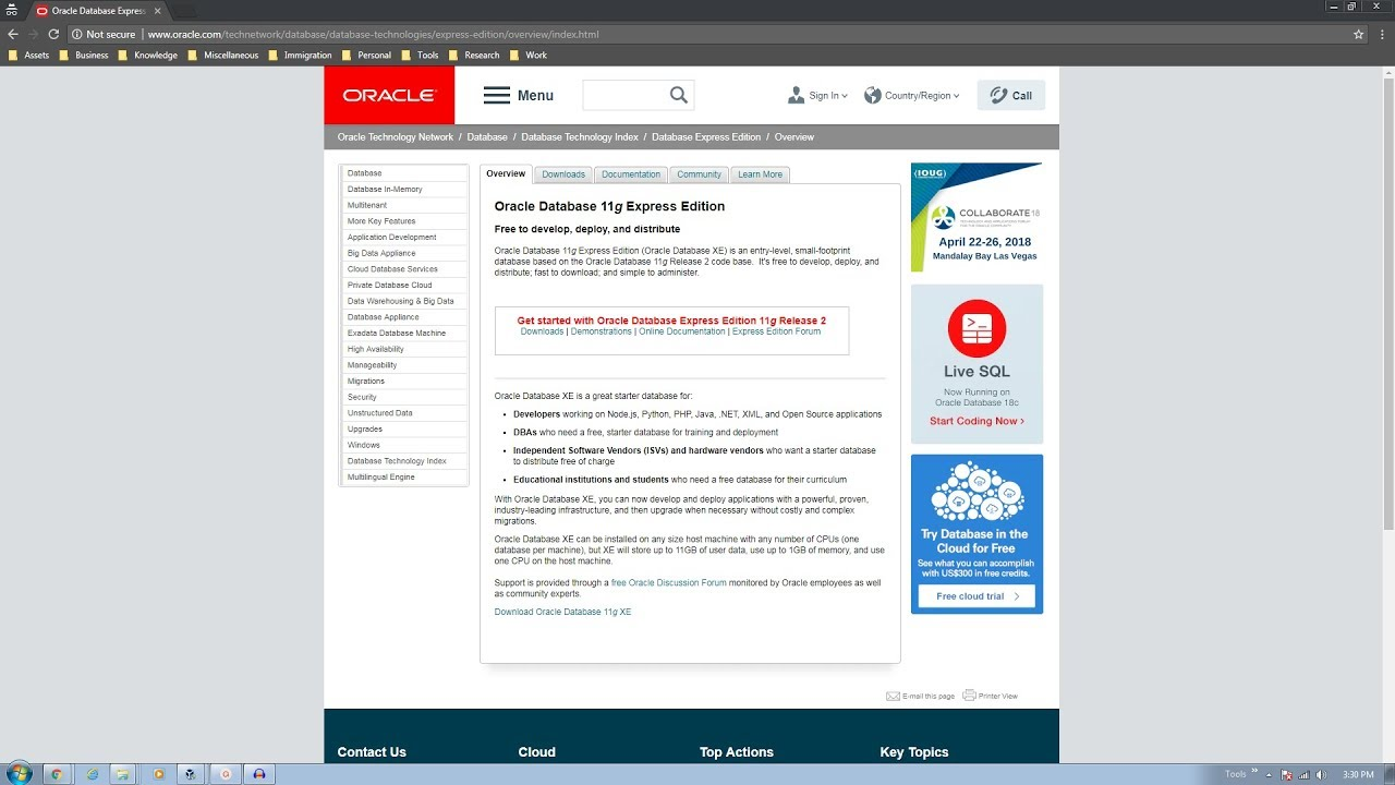 Oracle Database 11g Express Edition - Part 1 (Download and Install)