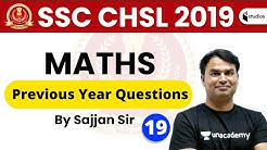 1:30 PM - SSC CHSL 2019 | Maths by Sajjan Sir | Previous Year Questions | Day-18